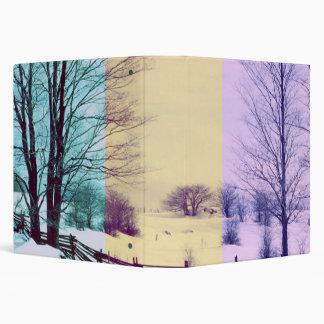 Colorful Winter Scene Set 3 Ring Binder