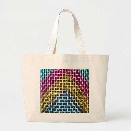 Colorful Wire Grid Cage Canvas Bag