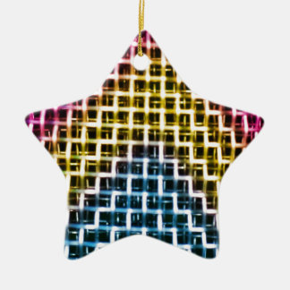 Colorful Wire Grid Cage Christmas Tree Ornaments