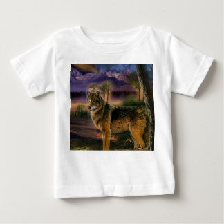 Colorful wolf in the forest baby T-Shirt