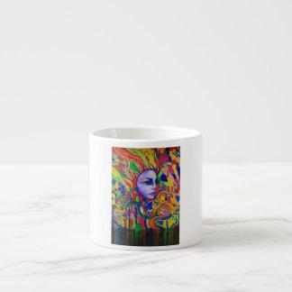 Colorful Woman's Face Graffiti in Vinnitsa Ukraine Espresso Cup