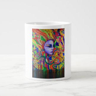 Colorful Woman's Face Graffiti in Vinnitsa Ukraine Giant Coffee Mug
