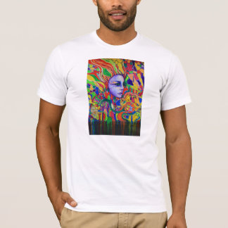 Colorful Woman's Face Graffiti in Vinnitsa Ukraine T-Shirt