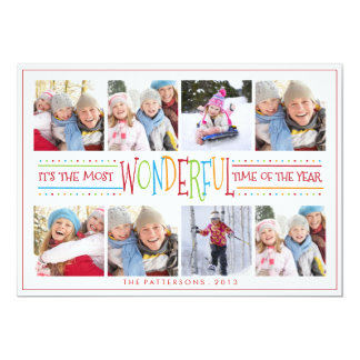 Colorful Wonderful Eight Photo Greeting Card
