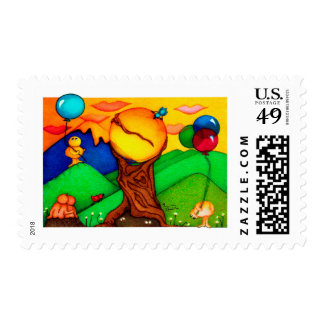 Colorful Woobies Postage