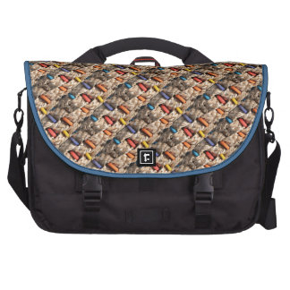 Colorful Wood and Weave Pattern Commuter Bags