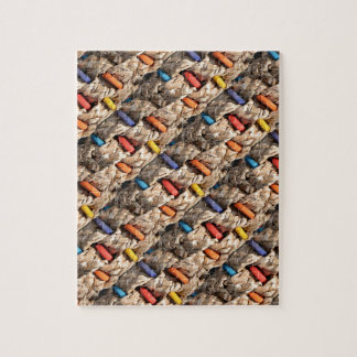 Colorful Wood and Weave Pattern Puzzles