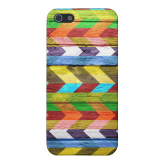 Colorful wood aztec chevron pattern #11 iPhone SE/5/5s cover