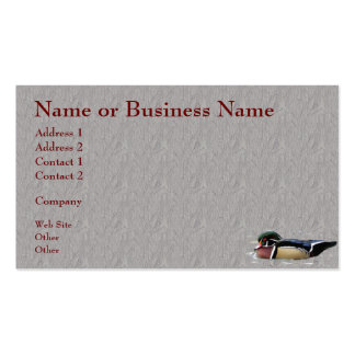 Colorful Wood Duck Business or Profile Card Double-Sided Standard Business Cards (Pack Of 100)