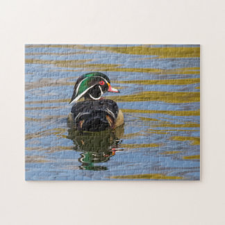 Colorful Wood Duck Jigsaw Puzzle