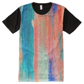 Colorful Wood Grain #2 All-Over Print T-shirt