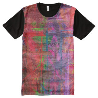 Colorful Wood Grain #4 All-Over Print Shirt