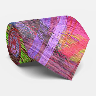 Colorful Wood Grain #8 Neck Tie