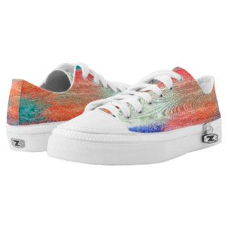 Colorful Wood Grain Texture #4 Low-Top Sneakers