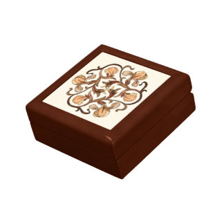 Colorful Wood In-Lay Flower Design-Coaster Box 1A