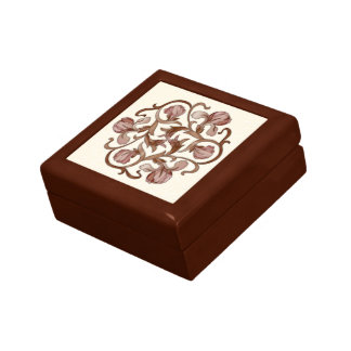 Colorful Wood In-Lay Flower Design-Coaster Box 1B