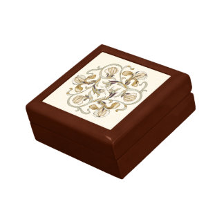 Colorful Wood In-Lay Flower Design-Coaster Box 1C