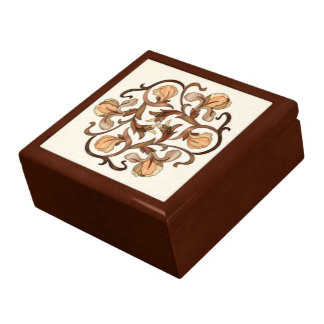 Colorful Wood In-Lay Flower Design-Wood Gift Box 2