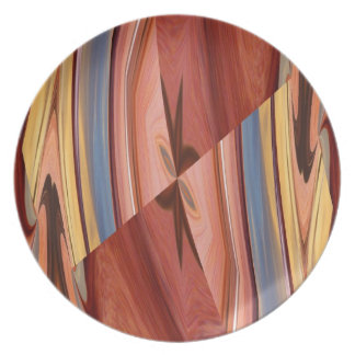 Colorful wood pattern Plate