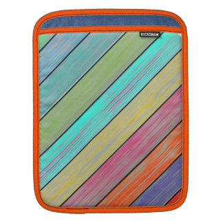 Colorful Wood Planks iPad Sleeves