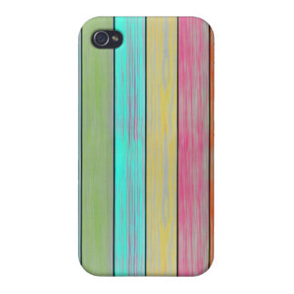 Colorful Wood Planks iPhone 4/4S Case