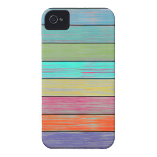 Colorful Wood Planks iPhone 4 Cover