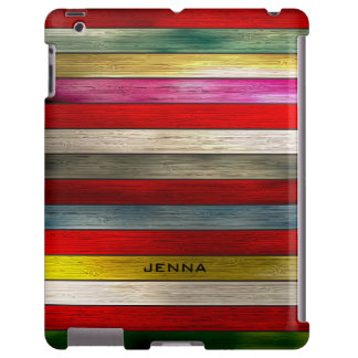 Colorful Wood Planks Stripes Pattern