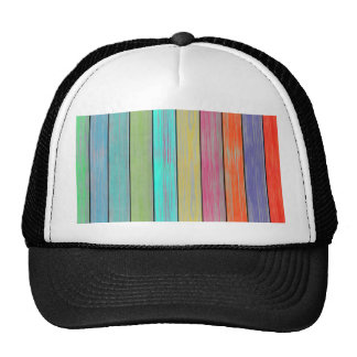 Colorful Wood Planks Trucker Hat