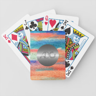 Colorful Wood Texture Modern Stainless Metal Bicycle Playing Cards