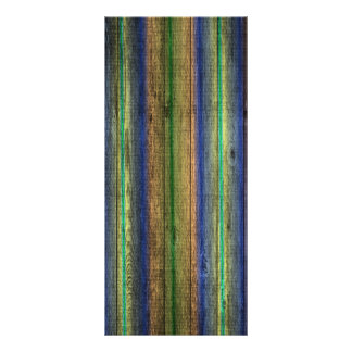 colorful wood wall vintage rack card