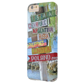 """""""COLORFUL WOODEN WORLD DESTINATION SIGNS"""" (RUM PT. BARELY THERE iPhone 6 PLUS CASE"""