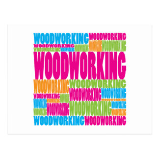 Colorful Woodworking Postcard