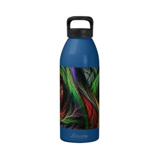 Colorful Wool-Effect Pattern Drinking Bottle