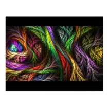 Colorful Wool-Effect Pattern Postcard