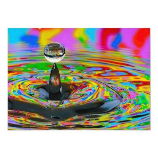 "colorful_world14 glass marble swirls digital reali 5"" x 7"" invitation card"