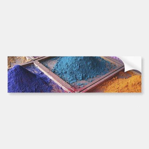colorful_world2 makeup powders fashion style bumper sticker