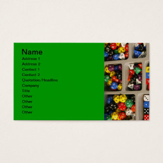colorful_world (18) Dice collection assortments Business Card