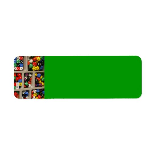 colorful_world (18) Dice collection assortments Return Address Labels