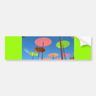 colorful_world (20) BLUE SKY SWIRLING DISKS FUN Bumper Sticker