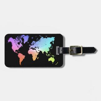 Colorful World Bag Tag