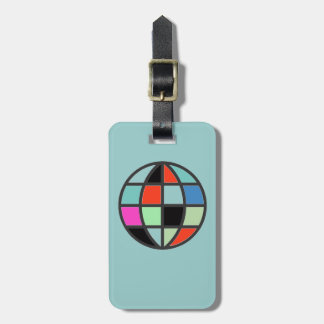 colorful world globe tags for luggage
