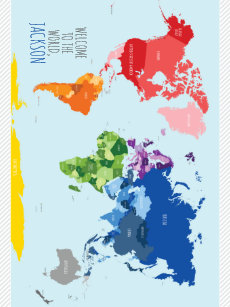 Make your own colorful world maps blanket bundle up in yours today colorful world map baby blanket gumiabroncs Choice Image