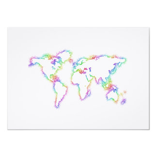 Colorful World map Card
