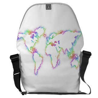 Colorful World map Courier Bag