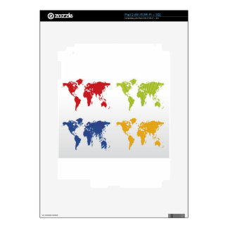 Colorful world map design skin for iPad 2