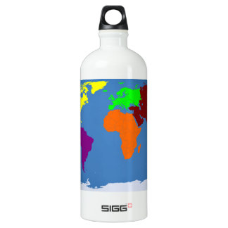 COLORFUL WORLD MAP OF CONTINENTS SIGG TRAVELER 1.0L WATER BOTTLE