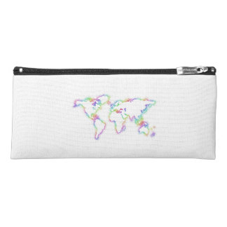Colorful World map Pencil Case