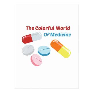 Colorful World of Medicine Postcard