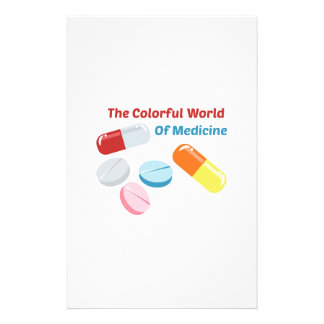Colorful World of Medicine Personalized Stationery