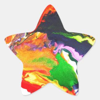 Colorful World Star Sticker